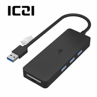 ICZI USB 3 0 Hub High Speed External USB 3 0 Ports For Data Transfer SD