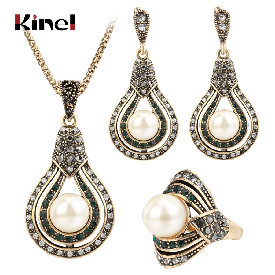 Kinel 3Pcs Vintage Jewelry...
