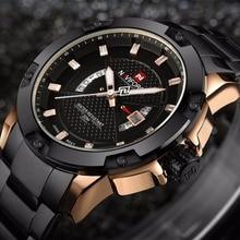 Top Luxury Brand NAVIFORCE Men Full Steel Watches Men's Quartz Analog Watch Man Fashion Sports Army Military Wrist Watch CLOCK