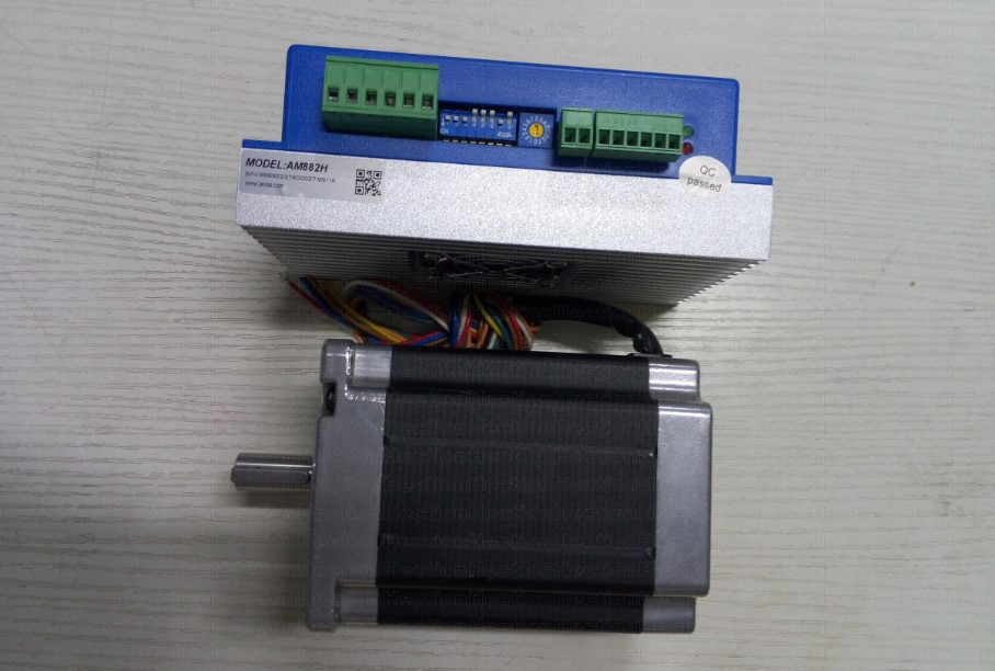 Whole 2 pcs a lot A Leadshine Stepper driver AM882H + A 2-phase NEMA34 Stepper motor 86HS85 out put 8.5NM Torque shaft 12.7mm 2pcs lot leadshine 2 phase high precision stepper drive am882