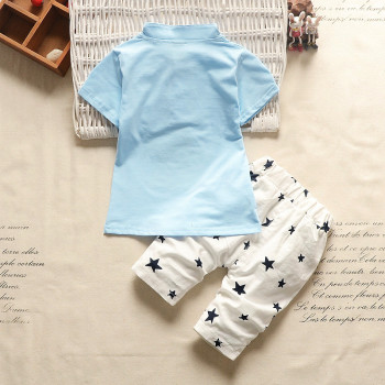 Newborn Baby Boys Star Pattern Clothing Sets Summer 1