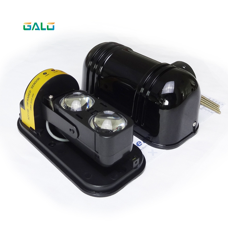 GALO Outdoor 10m~150m Wall Gate Window Photoelectric Infrared Double Beam Detector Perimeter Protection 2 Beam Infrared Sensor