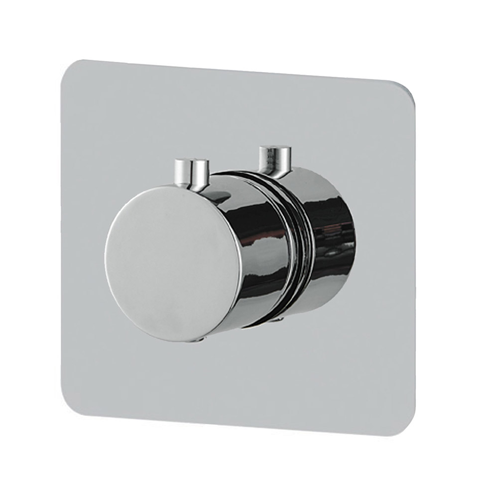 Thermostatic Mixing Valve Wall Mounted Shower Mixer Controller Temperature Bath Concealed 3 Ways Brass Embedded Box Bathroom