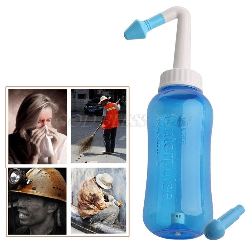 האף לשטוף מערכת סינוס & אלרגיות הקלה בלחץ באף לשטוף Neti סיר האף גוזם Drop חינם