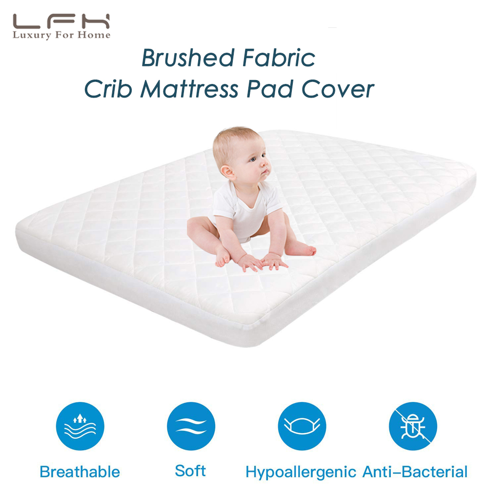LFH Baby Crib Mattress Topper Cover For Toddlers Bed ...
