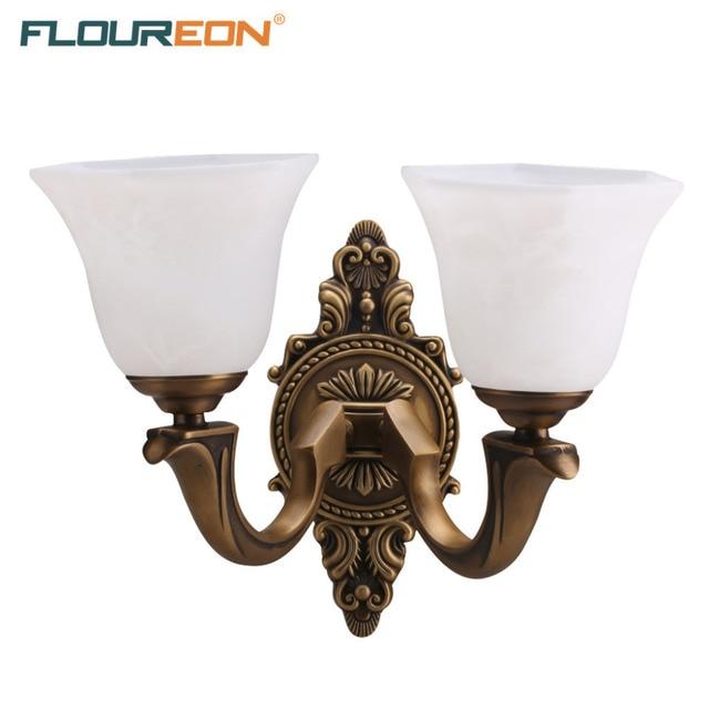 Floureon brass 2 light wall light euro wall lamp solid brass floureon brass 2 light wall light euro wall lamp solid brass construction antique brass aloadofball Images