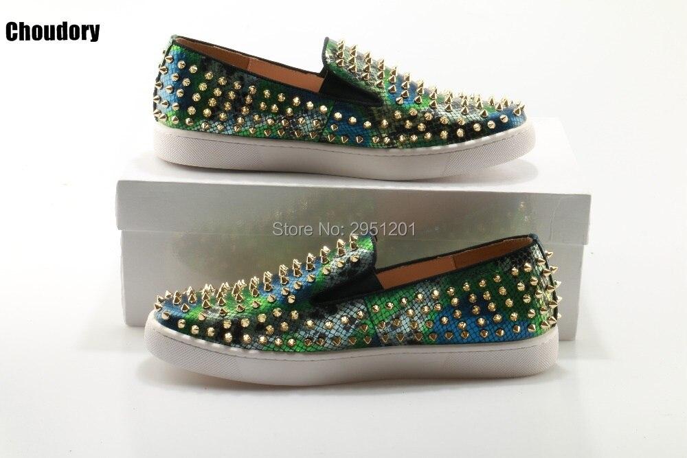 2019 Роскошные брендовые лоферы из змеиной кожи; Choudory; повседневные лоферы; Разноцветные слипоны на плоской подошве; кожаная обувь на платформе - 2