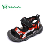 Claladoudou 11.5 13.5CM Brand Camouflage Baby Boy Slippers Kids Beach Sandals Infant Shoes Anti slip Toddler Boy Shoes Fashion