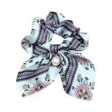 Adjustable Pearl Gift Elastic Hair Band Exquisite Beautiful Unique Bowknot Flower Print Seaside Gifts Rope