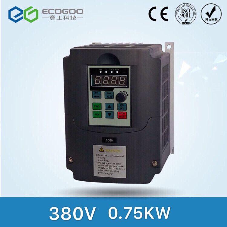380 В 0.75kw низкая Мощность инвертор частоты для солнечной батареи, DC AC драйвер