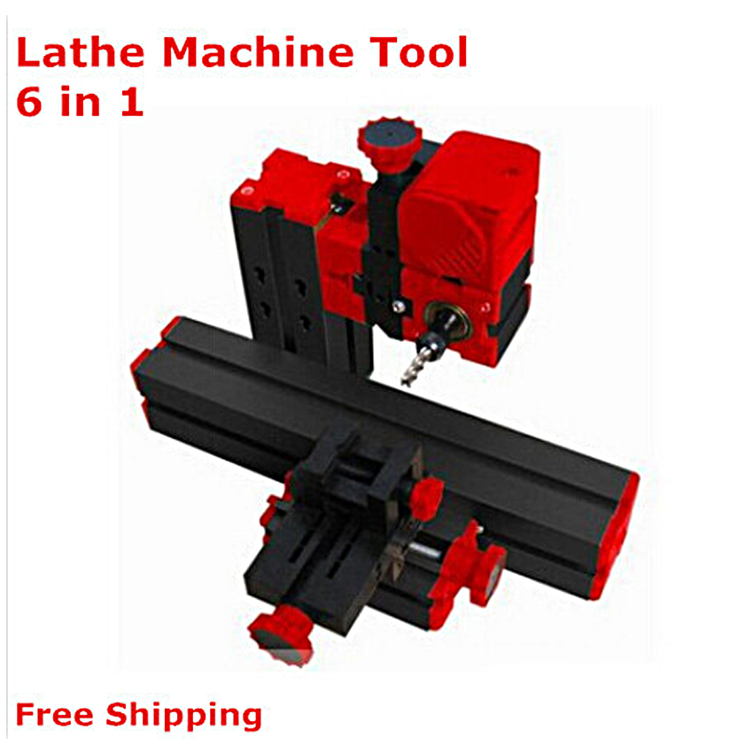 New 6 in 1 Mini Lathe Machine ,Milling ,Drilling ,Wood Turning ,Jag Saw and Sanding Machine,Mini Combined Machine Tool,DIY Tool 6 in 1 mini lathe milling drilling wood turning jag saw