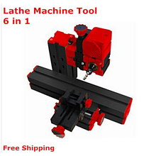 Check Discount New 6 in 1 Mini Lathe Machine ,Milling ,Drilling ,Wood Turning ,Jag Saw and Sanding Machine,Mini Combined Machine Tool,DIY Tool