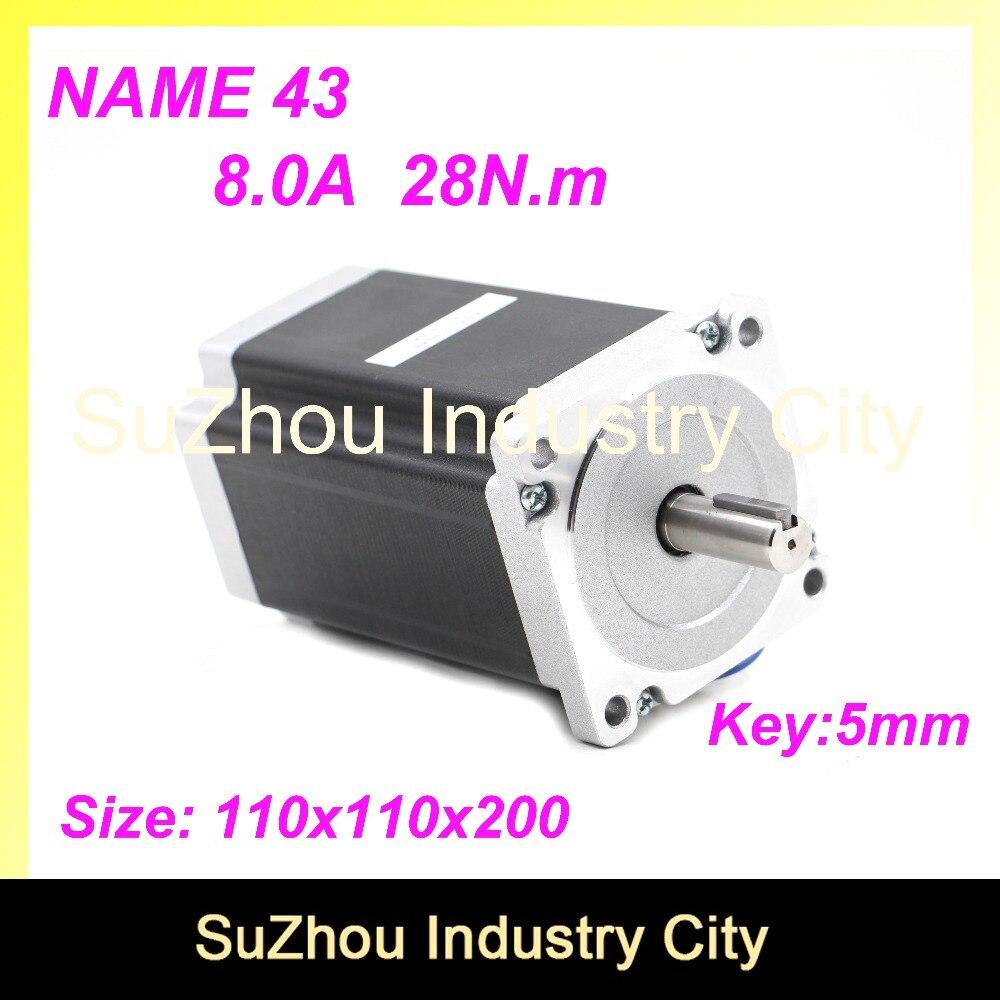 цена на High Torque NEMA43 CNC stepper motor 110mm motor 28N.m 8A shaft 19mm stepping motor