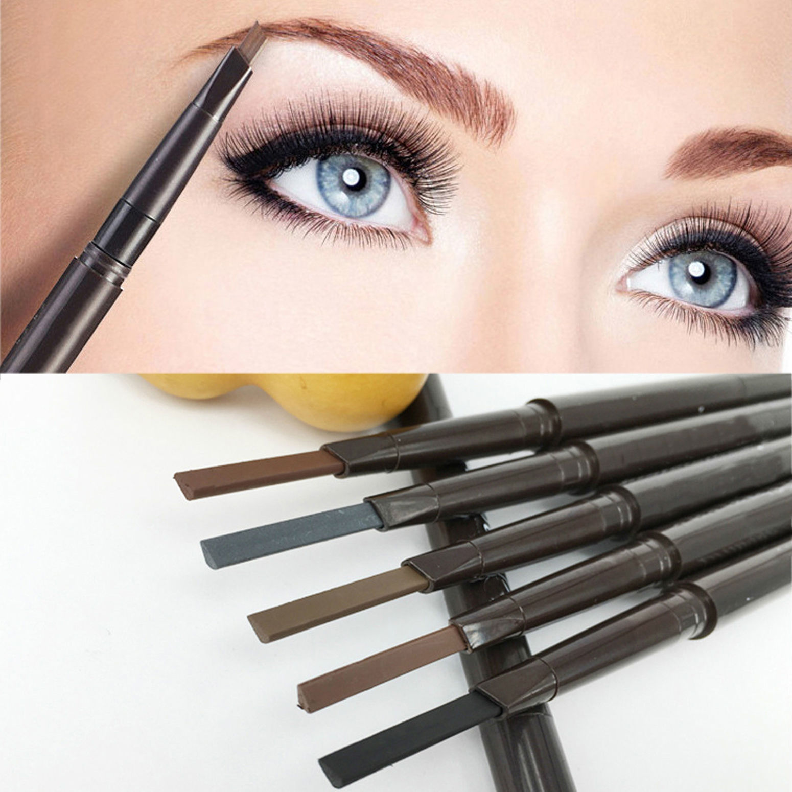 0bf357fc458 Detail Feedback Questions about Hot Sale Eyebrow Enhancers Waterproof Eye  Brow Automatic Eyebrow Pencil Makeup Eyebrows Brushes Cosmetics Tools Brow  Pencil ...