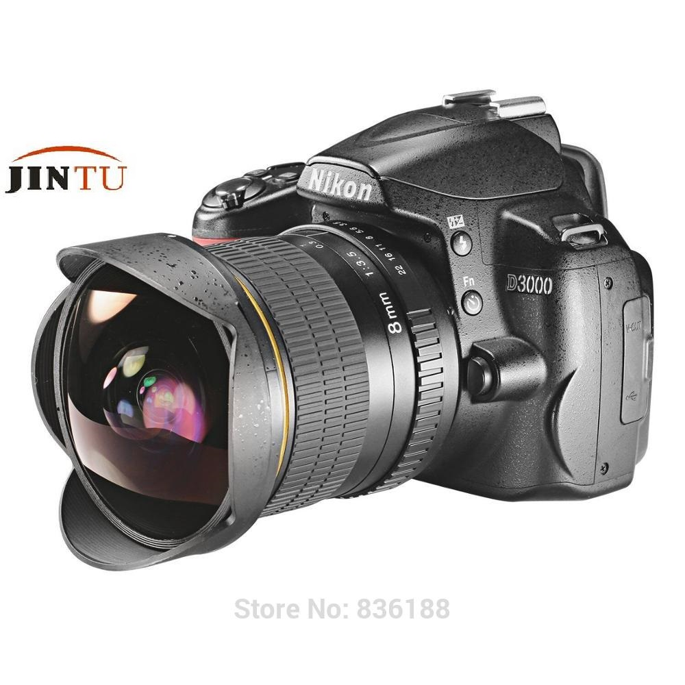 JINTU Pro 8mm f/3.5 Fisheye fish eye Lens for Canon Eos 650D 750D 850D 550D 600D 700D 100D 450D 1200D DSLR Camera jintu 900mm f 8 mirror super tele manual fix focus lens for sony alpha a900 a700 a300 a200 a100 dslr camera