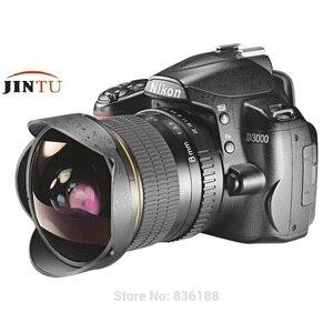 Image 5 - JINTU lente ojo de pez gran angular de 8MM F/3,5 MF, compatible con Canon EOS 760D 750D 700D 650D 600D 1200D 80D 70D 60D 77D SLR Cámara