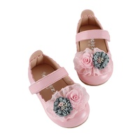 Spring Autumn Baby Girls Shoes Lace Flower Kids Small Shoes Toddler Baby Girls First Walkers Soft Sole Shoes Princess Shoes