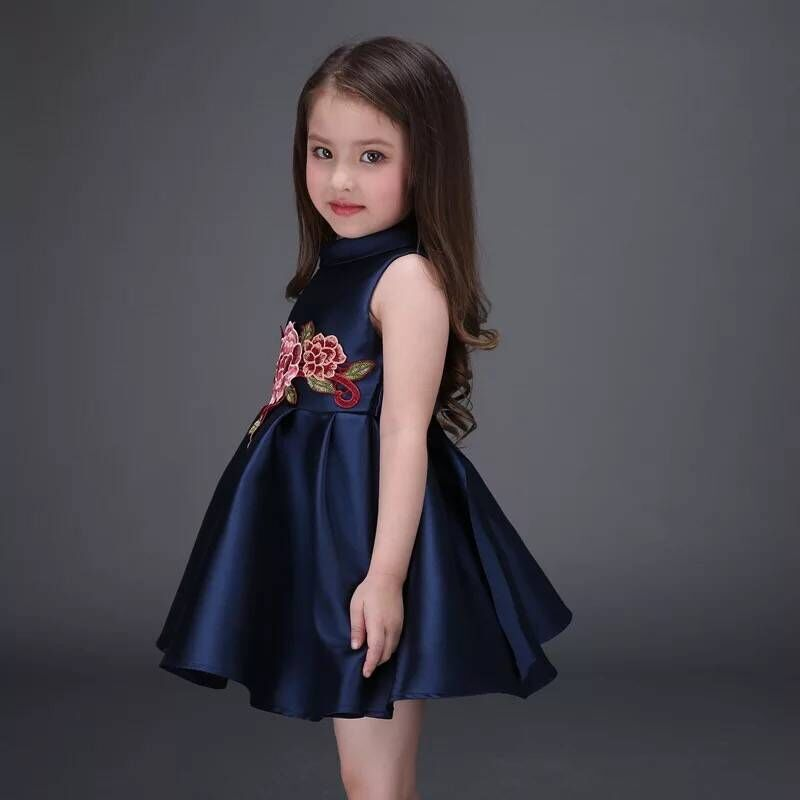 83f85696014 2016 Girl Dress Girls Summer High grade Wedding Dresses Children  Embroidered Party Dresses Girl Kids Clothes-in Dresses from Mother   Kids  on Aliexpress.com ...