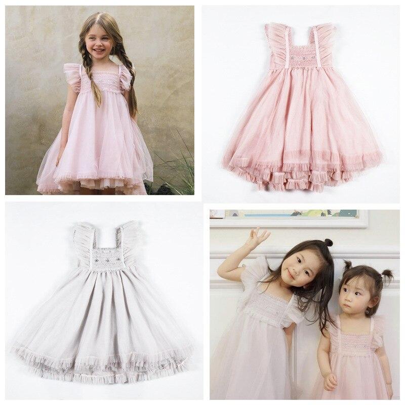 Tutu robe 2019 ins chaud bébé fille vêtements filles robes de princesse robe de soirée licorne fête enfant en bas âge robe de noël