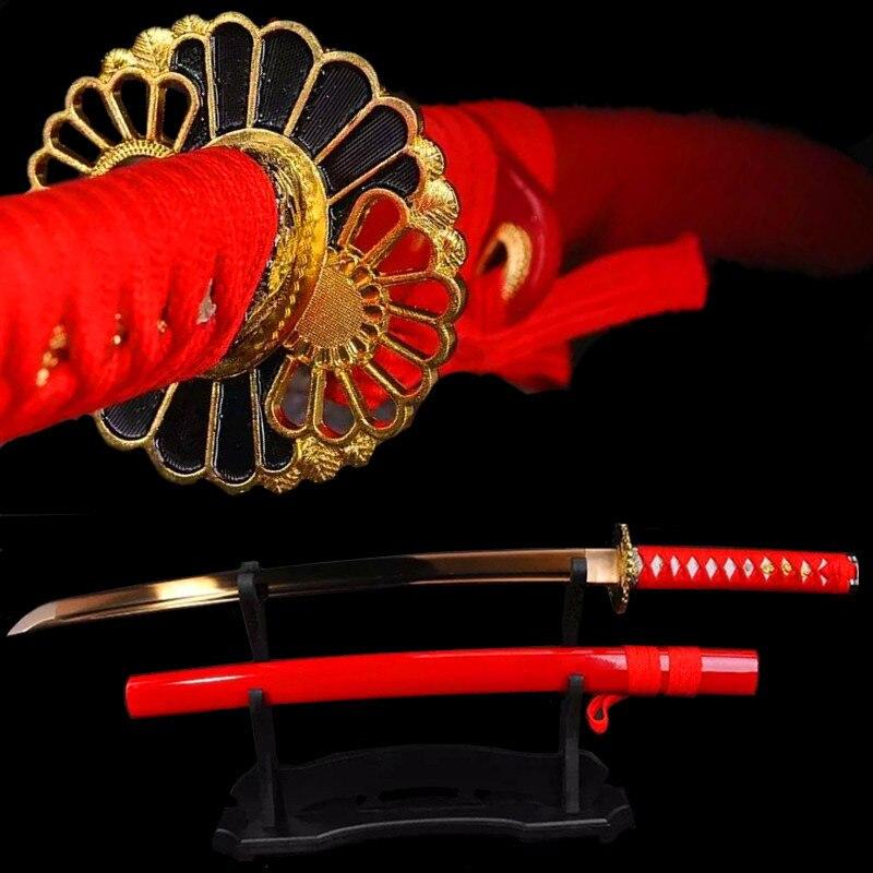 Rankų darbo japoniški kardai Katana Damascus Steel Katana Steel - Namų dekoras