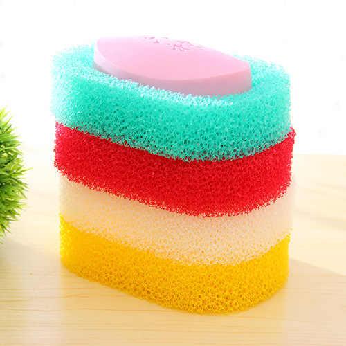 다채로운 거품 스폰지 비누 접시 욕실 케이스 주방 샤워 흡수 비누 홀더 접시 보호기 접시 트레이 쉽게