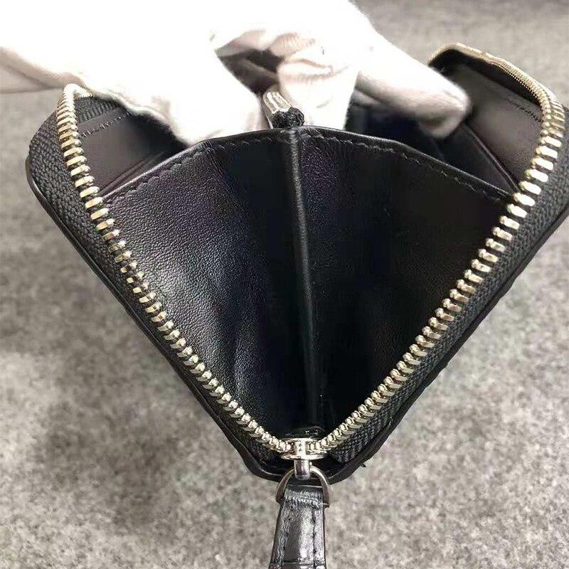 Genuine Alligator leather wallet fashion luxury genuine crocodile clutch long wallet for men women UBEJ0013 - 5