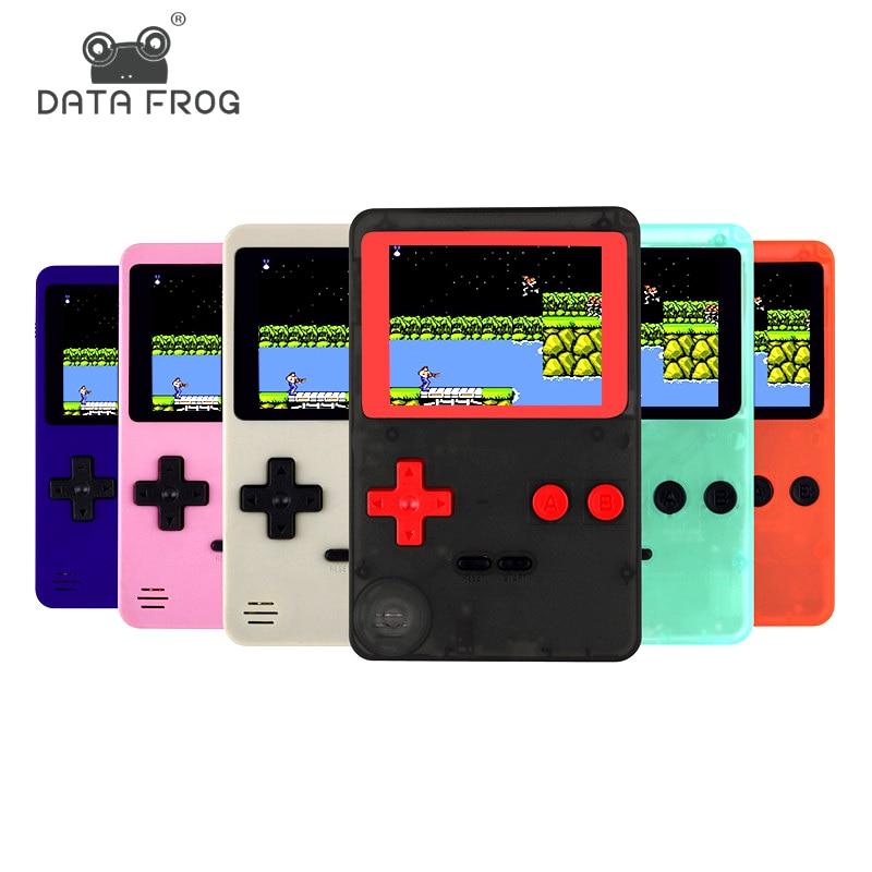Kindheit Klassische Spiel Mit 200 Spiele 2,8 zoll 8-Bit PVP Tragbare Handheld Spielkonsole Familie TV Retro Video konsolen