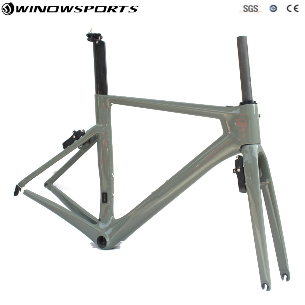 Aero road carbon bicycle frame XS S M L include Hidden brakes Carbon Road Bike Frame Super Light Aero Road Bike Frameset orge latest ud weave super light carbon road bike frame ud matt bicycle road frameset bsa bb30 pf30 size xxs xs s m l xl