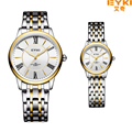 Brand EYKI 30M Waterproof Business Watch Couple Stainless Steel Strap Simple Diamond Scale Japan Movement  Quartz Watches2005
