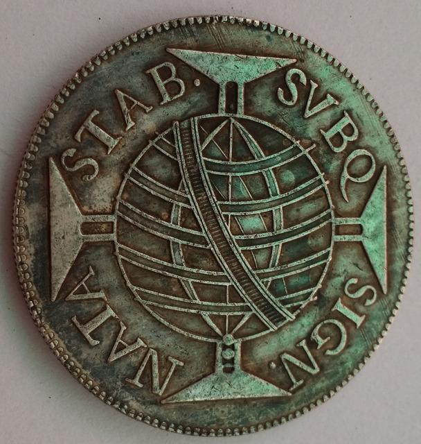 1755 R Brazil 640 Reis  Coin