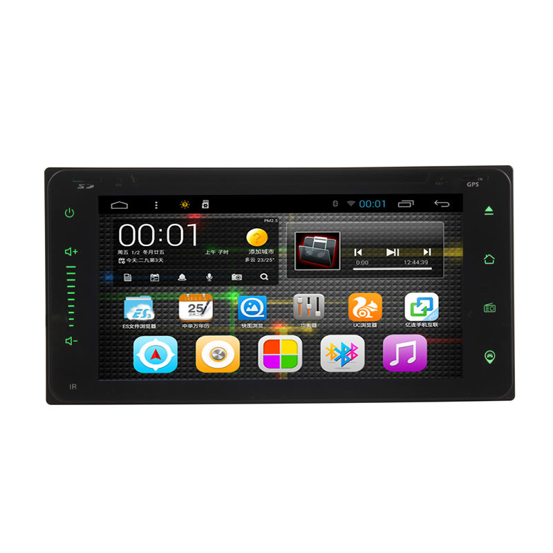 6.95 Inch Quad Core 2DIN Android OS Car Dash DVD MP3 MP4 Player GPS WIFI Bluetooth Hean Unit Stereos for Toyota Corolla EX