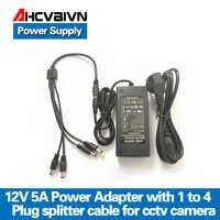 AHCVBIVN 12V 5A 1to 4 Port stecker splitter kabel CCTV Kamera AC Adapter Power Supply Box Für die CCTV sicherheit Kamera