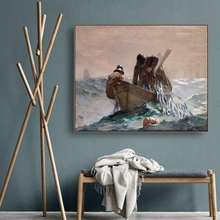 Herring Net by Winslow Homer Wall Art Poster Print Canvas Painting Calligraphy Decorative Picture for Living Room Home Decor
