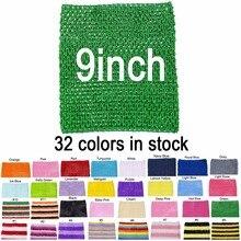 Baby Mädchen 9 Inch Crochet Tutu Tube Tops Kasten verpackungs weit für DIY Tutu Kleid Lieferant 10 stücke pro Los