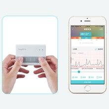 Android и IOS ЭКГ монитор последние Беспроводные Bluetooth 4,0 Поддержка мини ЭКГ машина измерение SnapECG электрод Holter карты