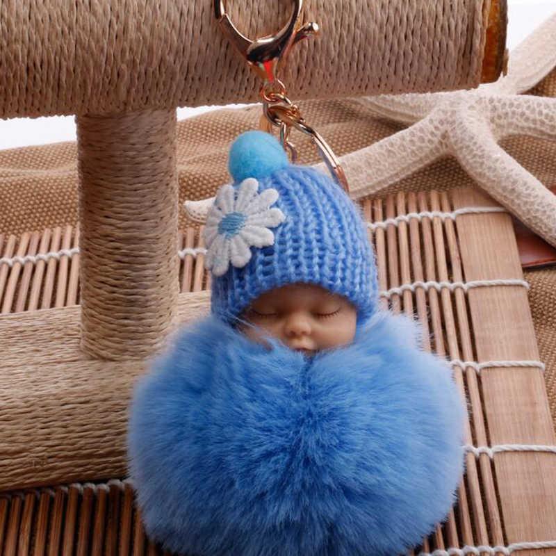Каваи милый ребенок флеш кукла мягкий пух маленький подарок брелок украшение с кольцом для ключей украшение автомобиля для женщин/Девушек Сумка