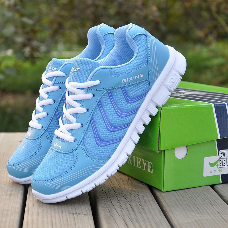 NEW Fashion Women Shoes Women Casual Shoes Woman Lace Up Breathable Mesh Shoes hot new 2016 fashion high heeled women casual shoes breathable air mesh outdoor walking sport woman shoes zapatillas mujer 35 40
