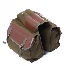 Canvas Universal Motorcycle Bike Rear Tail Bags Equine Back Pack Saddlebags For Harley Sportster H/S
