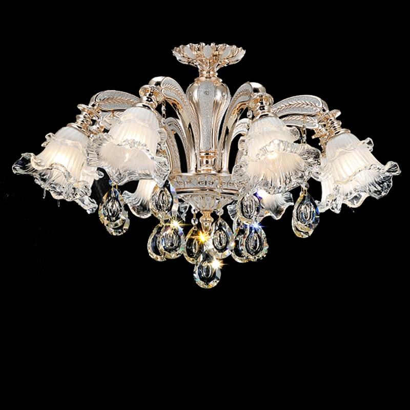 Modern Pendant Crystal Chandelier Led Lustre Living Room Murano Glass Cover Led Chandelier Dining Room Home Lights & Lighting