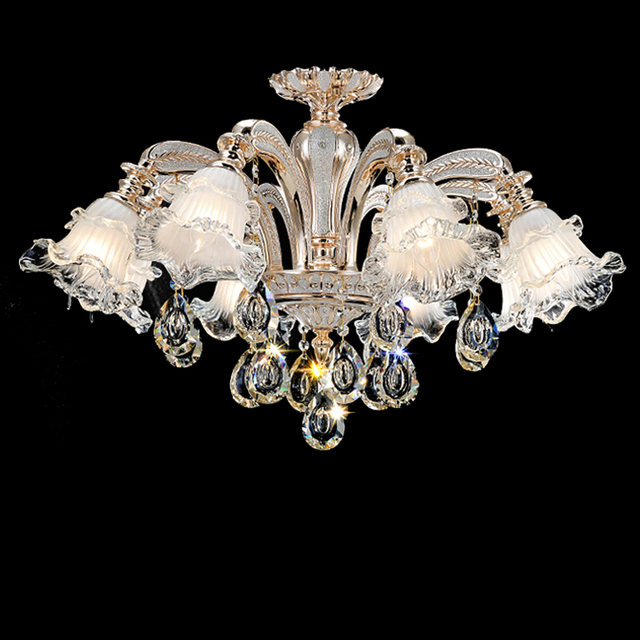 Modern Pendant Crystal Chandelier Led Lustre Living Room Murano ...