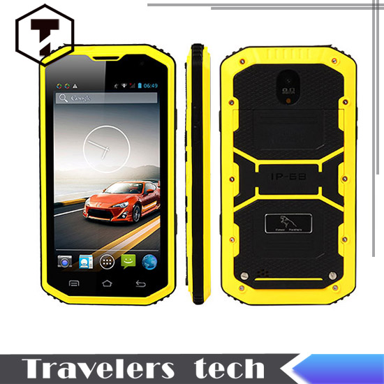 Original HUMMER H8 font b smartphone b font waterproof dustproof shockproof MTK 6572W dual core rugged