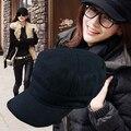 Корейский осень зима свободного покроя лежа шляпа шерстяная ткань шляп шляпы армейское кепка кости Gorras для мужчины женщины размер