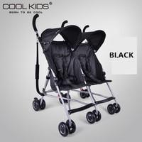 4,95 кг Ультра легкий двойная коляска, портативная двойная коляска, детская коляска для близнецов, 2 сиденья детский зонт автомобиль