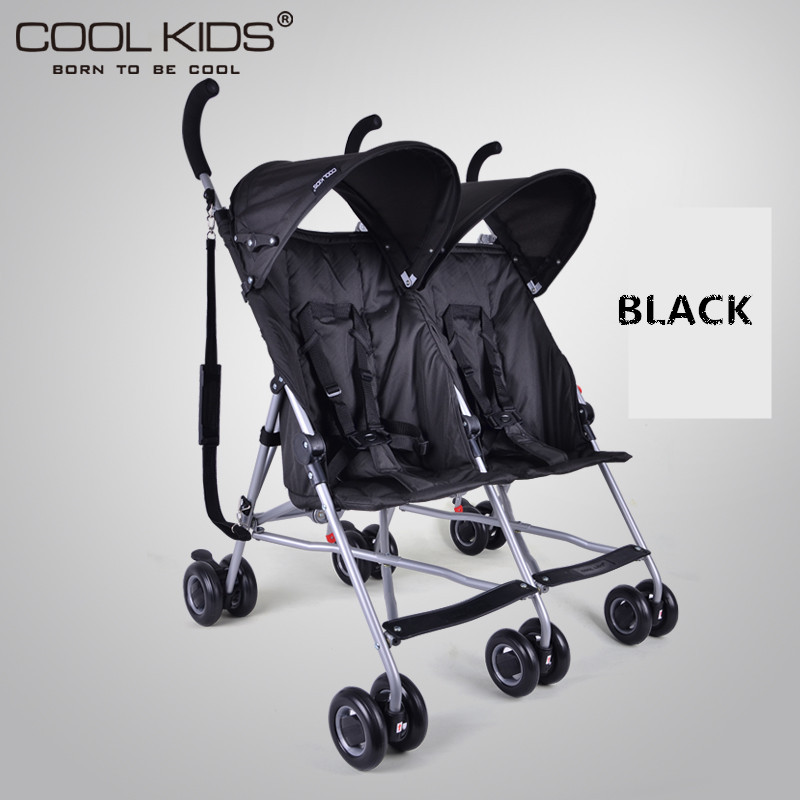 4.95kg Ultra-Light Twins Stroller, Portable Double Stroller, Baby Stroller for Twins, 2 Seats Children Umbrella Car double stroller red pink blue color twins infant stroller sale kids sleep comfortable more at ease sophisticated technologies