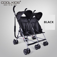 4.95kg Ultra Light Twins Stroller, Portable Double Stroller, Baby Stroller for Twins, 2 Seats Children Umbrella Car