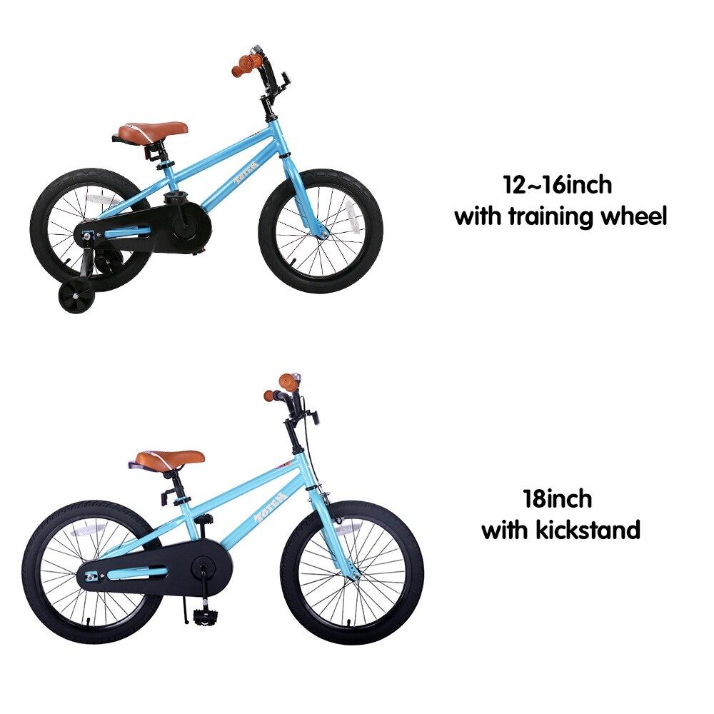 Vélo enfants pour filles et garçons, roues d'entraînement pour 12 14 16 pouces vélo, béquille pour 18 pouces vélo enfant vélo enfants bébé vélo - 6