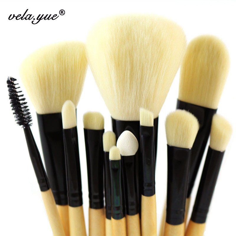 Professionele zachte make-up kwasten set 12 stks gezicht wangen ogen - Make-up