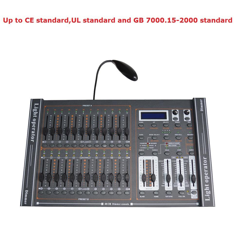 1Pcs/Lot Fast Shipping 48 Channel DMX512 Dimmer Console For Professional Dimming Controller Intelligent DMX Mixing Console fast shipping fast shipping ltech dc12v artnet dmx converter artnet dmx 2 artnet input dmx 1024 channels output 512 2ch channels