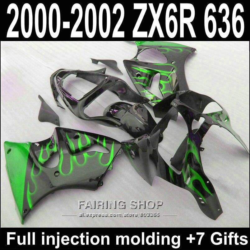 ୧ʕ ʔ୨Kit de carenado de inyección de ABS para Kawasaki ZX6R 2000 ...