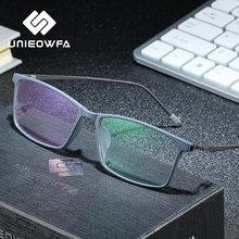 UNIEOWFA-gafas graduadas ópticas para hombre, anteojos coreanos para miopía, hipermetropía, TR90, Anti luz azul, gafas fotocromáticas progresivos
